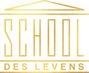 Logo School des Levens met GOUDen rand