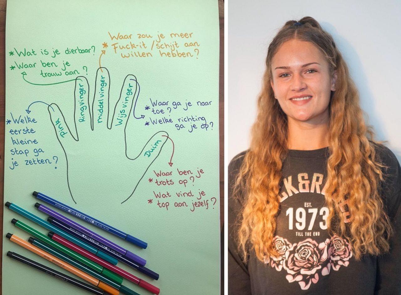 Mandy en haar uitwerking van een online challenge die ze van haar MDT Local Heroes krijgt.